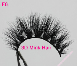 Wholesale Siberian Mink Eyelash Extension - F6 Free Shipping 100% Real Siberian 3D Mink Full Strip False Eyelash Long Individual Eyelashes Mink Lashes Extension