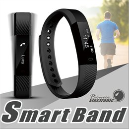 Wholesale Touch Screen Wrist Band Watch - ID115 Smart Band Bracelet Fitness Tracker watch Wireless Touch Screen Sleep Monitor Activity Step Distance Calorie Counter for Android  iOS