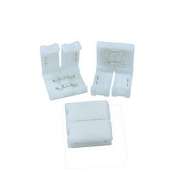 Pino de solda on-line-20 pçs / lote 10mm tira a tira PCB 2 pinos caixa de adaptador de conector para 5050 cor única faixa de LED sem soldagem fácil de instalar