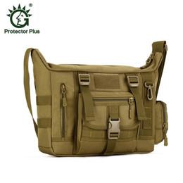 Wholesale Computer Capacity - Large Capacity A4 Tactical Bag Men waterproof Nylon Pack IPAD Satchel 14 inch Computer Handbag Shoulder Bags Purse Free Shipping