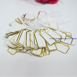 Wholesale Bulk Tags - Free Shipping Bulk Price Fashion Goldern Slivary 1000 Pcs Jewelry Strung Pricing Price Tags with String Silver