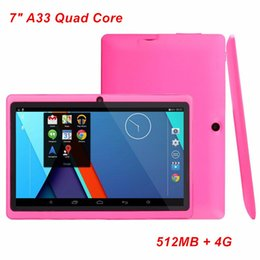 2019 tablette chinoise 64gb Tablettes Q88 7 pouces Quad Core AllWinner A33 Android 4.4 512 Mo de RAM 4 Go de ROM WIFI Tablet PC