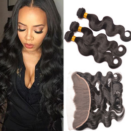 Wholesale Cheap Full Brazilian Weave - 7A Full Frontal Lace Closure 13x4 Ear To Ear Lace Frontal With cheap Hair Brazilian Body Wave Frontal Closure Human Hair Weave