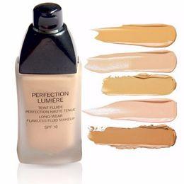 Wholesale Natural Antioxidant - Brand Flawless Coverage Moisturizer Foundation Face Base Make up Perfection Lumiere Studio Fix Fluid Liquid Foundation Beauty