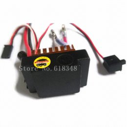 Wholesale Hsp Esc Brushed - New 03058 HSP 1 16 ESC 320A Brush Brushed Waterproof Upgraded Electronic Speed Controller For RC Car Model 380 Motor Buggy Truck