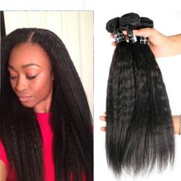 Brésiliens Cheveux Bundles Vierge de Cheveux Humains Weaves Kinky Droites Trames 8-34 polegada Non Transformés Péruvienne Indienne Mongole Mink Extensions de Cheveux ? partir de fabricateur