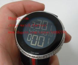 Wholesale Divers Watch Analog Digital - Luxury 44mmm YA114207 Mens Custom Digital Custom Diamond Luminescent Quartz Electronic Rubber Strap Watch Men's Watches