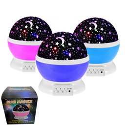 Wholesale Projection Lights For Kids - Star Master Rotation Night Light Moon Star Projector Rotation Night Projection with USB for Children Kids Bedroom Christmas Gifts