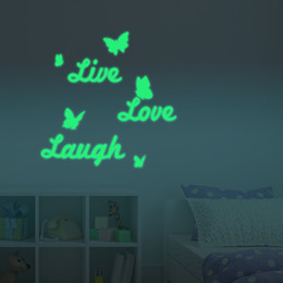 Wholesale Live Laugh Love Quotes - 2PCS LOT Live Well Laugh Often Love Much Motivational Life Quote Wall Sticker DIY Inspirational Life Quotes Vinyl Wall Art Decal