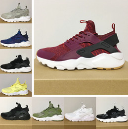 Wholesale Huaraches Basketball Shoes - 2017 New Design Air Huarache 9 All Red Mesh Huraches Sneakers Ultra Breathe Men And Women Huaraches Running Shoes basketball shoes