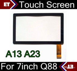 Wholesale Display Screen Q88 - DHL 100PCS Brand New Touch Screen Display Glass Replacement For 7 Inch Q88 A13 A23 Tablet PC MID TC1