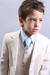 Wholesale Boys First Communion Suit - Boys Wedding Suits Formal Wear Tuxedos Good Looking Cool sun for Holy Communion First White Chalice Tie Handsome suit