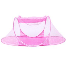 Wholesale Cotton Mosquito Nets - New Style Folding Baby Mosquito Net Tent,Protable Baby Safety Mosquito Netting,Comfortable Infant Kids Mosquito Nets Blue Pink