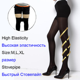 Wholesale Collant Tights - Prevent Varicose Veins Plus Size Sexy Lose Weight Compression Tights Pantyhose Women Girl meia calca collant Retail wholesale