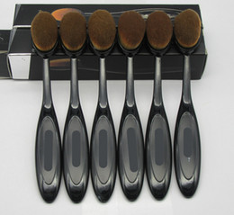 Wholesale Toothbrush Boxes - Oval Cream Puff Brushes Cosmetic Toothbrush-shaped foundation brush Face Powder Blusher Makeup Brush Beauty Blending Tools Retail Box