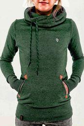 Wholesale thin sweatshirts for women - 2016 New Women Hoodies Sweatshirt Casual Hooded Long Sleeve Pocket Design Embroidered Hoodie For Women Sweatshirts Woman