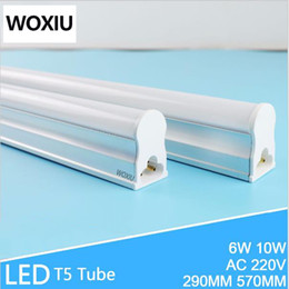 Wholesale Led Tube Lights Holder - WOXIU T5 Led Tube stent light integrated lamp holder fluorescent light pack 2ft 570mm energy saving lamp AC110-265V 8W 6000k