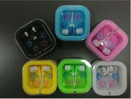 Wholesale Hot Candy Mp3 - 2017 hot sale Fashion Ear Buds On-ear Earphone Headphone MP3 MP4 FM Phone Gift Earphone Candy Color Small Earphone