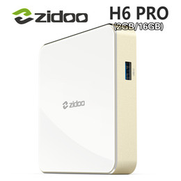 Wholesale Dolby Player - 20pcs ZIDOO DDR4 H6 PRO Android 7.0 4K 10Bit HDR TV Box Allwinner H6 2GB 16GB Dolby Digital DTS-HD Smartcolo Media Player