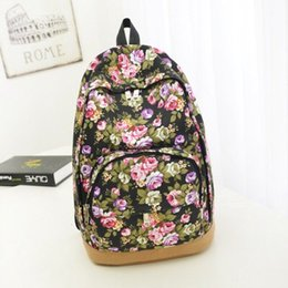 Wholesale Wholesale Backpacks China - China wholesale colorful flower backpack flower style vintage canvas wholesale backpack flower backpacks bags