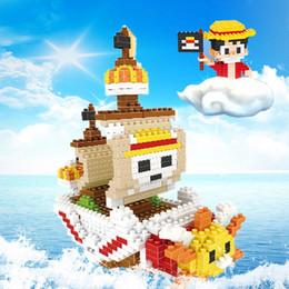 Wholesale One Piece Sunny Action Figure - Thousand Sunny Action Figures One Piece Cartoon Anime Pirate Boats Model Children's Favorite Gift Toys Mini Building Bricks