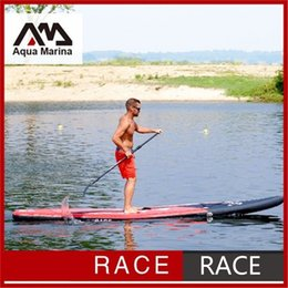 Wholesale Racing Paddles - 427x71x15cm inflatable surfboard stand up paddle board AQUA MARINA RACE speed fast sup board surf board bag leash paddle fin