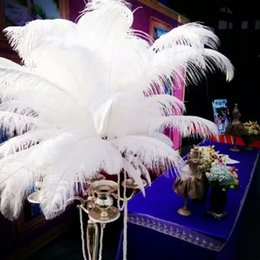 Wholesale Wholesale White Ostrich Feathers - Wholesale 100 pcs White ostrich feather plumes for wedding centerpiece decoraction costume decor supply feather decor