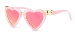Wholesale Pink Heart Shaped Sunglasses - Fashionable Heart Shape Sunglasses 2016 New Cute Girls Pink Mirror Lovely Sun Glasses 100% UV400 Kid Baby Eyewear High Quality
