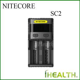 imr зарядное устройство Скидка NITECORE SC2 Super Charger 5A общий выход 3A максимальный выход для каждого слота 100% оригинал для IMR аккумуляторов