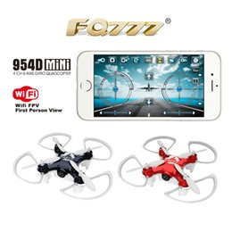 Wholesale Motor 3d Model - FQ777-954D WIFI FPV Drone with Camera Altitude Hold Mode 3D Flip 6-AXIS RC Nano Quadcopter BNF APP control F17862 63