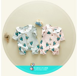 Wholesale Wholesale Kids Quality Clothes - IN stock high quality cotton new arrivals autumn baby kids climbing romper long sleeve Diamond pattern girl kids romper kid clothing
