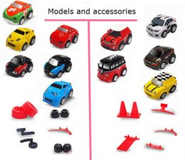 Wholesale Mini Hub Color - Mini RC Stunt Car 360 Rotation Q2 Cars 9 Accessories 4CH Radio Remote Control Vehicle 12 Colors Toys for Kids Christmas Gift DHL shipping