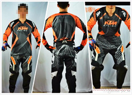 Wholesale Pants Ktm - Brand-KTM Motocross MTB DOWNHILL jerseys Racing Vented Pant off road Shirt Motorcycle jerseys one set (jerseys+pants)