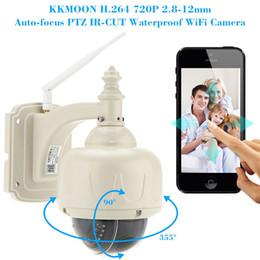 Wholesale H 264 Ptz Ip Camera - KKMOON H.264 HD 720P 2.8-12mm Auto-focus PTZ Wireless WiFi IP Camera Security CCTV Camera Home Surveillance
