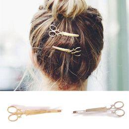 Wholesale Head Girl Pin - Wholesale-1 PC Head Jewelry Women Lady Girls Scissors Shears Hair Clip Delicate Hair Pin Hair Tiara Barrette Decorations Accessories