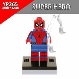 Wholesale Deadpool Marvel Heroes - Single Sale Spiderman Marvel DC Super Heroes Figure Deadpool Iron Man Building Blocks Toys For Children