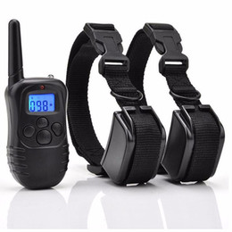Wholesale Remote Electric Pet Training Collar - Rechargeable And Waterproof Water-resistant 300 Meters Remote Electric Shock Anti-bark Pet Dog Training Collar With LCD Display 998DR