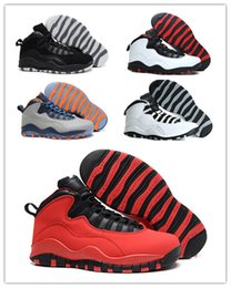 Wholesale Liberty Cotton - Men's Retro10 Double Nickel Basketball Shoes Chicago athletic Shoes Lady Liberty sneakers for men bulls sports boots with orignal box 8-13
