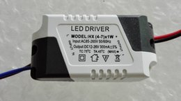 Wholesale Constant Current Led Power Supplies - 4-7*1W LED Driver Adapter, AC85-265V Constant Current LED Power Supply, AC90-264V Lighting Transformer for Light Beads