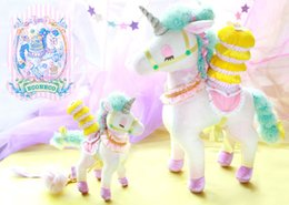Wholesale Hand Crafted Bags - Fresh light-colored dream sleepy unicorn plush toy doll bag pendant hand-crafted perfect detail essential Christmas party gift