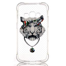 Wholesale 3d Case Tiger - 3D Flower Slim Soft TPU Case Girl Tiger Cartoon Shockproof For Samsung J1 Ace J110 J710 2016 J7 Huawei Honor 5X Xiaomi M5 Mi5 Meizu MX5 Skin