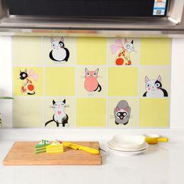 Wholesale Copper Stills - 75x45cm Kitchen DIY Foil Oil Wall Stickers Decor Sticker Art Home Decorations Supplies