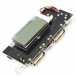 Wholesale Battery Module - Freeshipping Dual USB 5V 1A 2.1A Mobile Power Bank 18650 Battery Charger PCB Power Module Accessories For Phone DIY New LED LCD Module Board