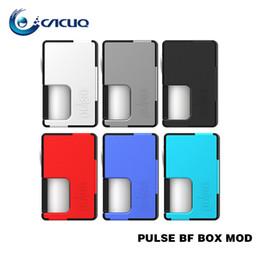 Wholesale locking battery box - Vandyvape Pulse BF Box Mod Use 18650 20700 Battery with 8ml Food Grade Silicone Bottle Locking Power Safety Switch 100% Original