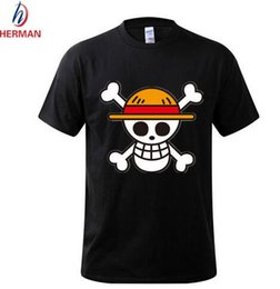 Wholesale One Piece Shirts For Women - One Piece T shirt 2016 Fashion Japanese Anime Clothing Back Color Luffy Cotton T-shirt For Man And Women,Brand Camiseta,TH001