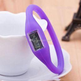 Ионный спортивный браслет часы онлайн-1000 шт. Высокое качество женщины мужчины анион часы девушка мальчик спорт отрицательный ион мягкий силиконовый светодиодный браслет подарок часы бесплатная доставка