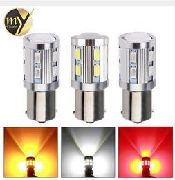 Wholesale Led 7443 Yellow - 1156 1157 7440 7443 Cree Chip LED 12 SMD 5730 W21 5W 5W Car Led Bulb Turn Signal Brake Light Source parking