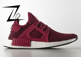 Wholesale Comfortable Winter Boots Women - Wine Red Nmd Runner XR1 Fashion Shoes Men Women Sports Running Sneakers Mens Walking Boots Comfortable Shoes Size 36-45 Free Drop Shipping