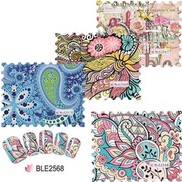 Wholesale Nail Cartoon Art Designs - Wholesale- Full Beauty Full Cover Nail Sticker Water Cartoon Decal Style Women Retro Stamp Dream Design Nails Art Decorations BLE2567-2570