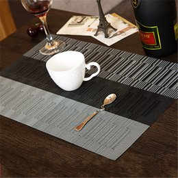 Wholesale Table Runners Europe - Wholesale- European Style PVC Polyester Heat Insulation Placemat Dining Table Runner Place Mat Kitchen Accessories Cup Wine Mat Coaster